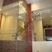 Зеркало встроенное и зеркальная колонна - серебро