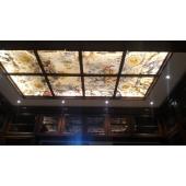 Стеклянный потолок, фотопечать под витраж